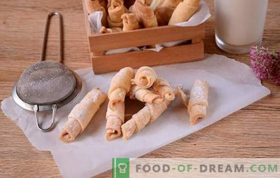Багели на сметана: стъпка по стъпка фото рецепта. Готвенето на ароматни гевреци върху заквасена сметана е доста дълго, но си струва!