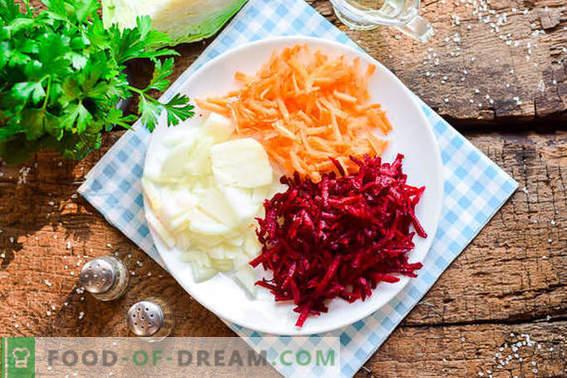 Готвене на вкусен украински борш според класическата рецепта
