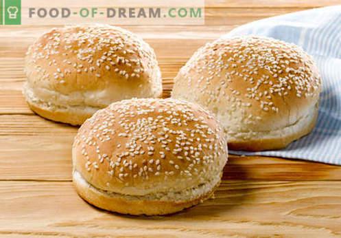 Хамбургерките са най-добрите рецепти. Как правилно и вкусно да готвя хлебчета хамбургер