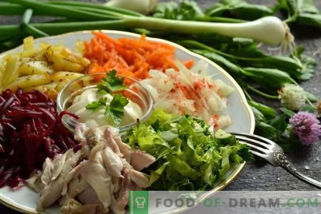 Зеленчукова салата с месо