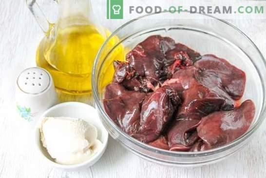 Фото рецепта: черен дроб в строганов стил - старо руско ястие. Стъпка по стъпка рецепта на черния дроб в строганов: снимка