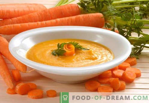 Пюре от моркови - най-добрите рецепти. Как правилно и вкусно приготвен пюре от моркови.