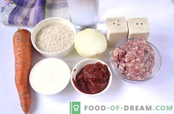 Кюфтета в доматено-заквасена сметана в бавен котлон - нищо не пържено! Стъпка по стъпка фото-рецепта за кюфтета в бавен котлон от кайма с ориз