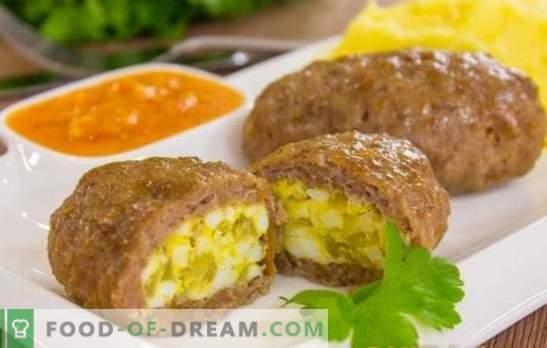 Месо Зари - изненада! Рецепти месо зръз с яйце, сирене, гъби, черен дроб, кисели краставички, зелен лук