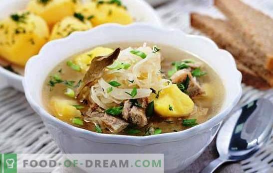 Супа в суха, богата на тенджера супа, като от руска печка. Най-добрите рецепти и възможности за приготвяне на супа в мултикукър