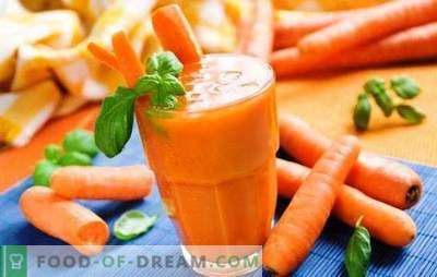 Тиква и сок от моркови у дома - склад на витамини и хранителни вещества! Сокът от тиква и морков, който завладява с невероятния си вкус: рецепти и тайни