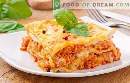 Лазаня Болонезе - вечерята ще бъде италианска! Популярни рецепти за подхранване Лазаня