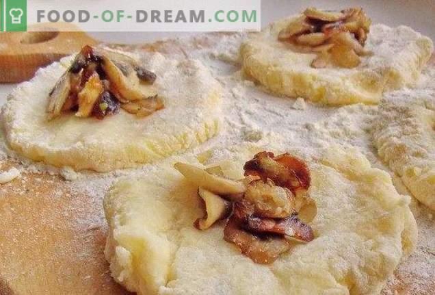 Potato zrazy with mushrooms