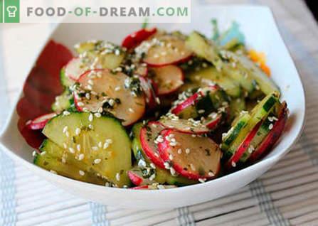 Японски салати - най-добрите рецепти. Как правилно и вкусно да се готви японската салата.