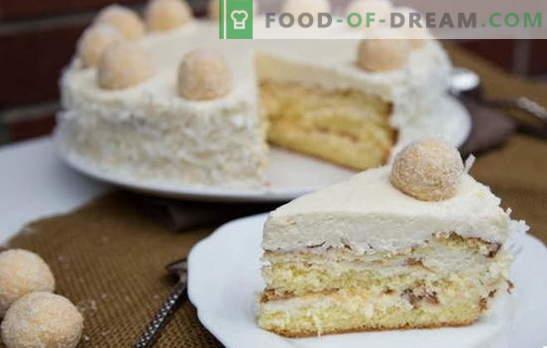 Невероятна торта Raffaello: рецепти у дома. Всички тайни и тънкости на правене на тортата Рафаело у дома