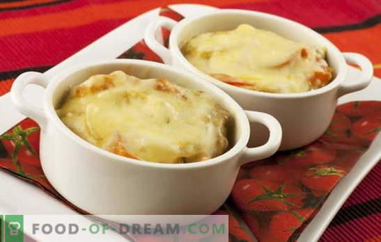Картофени картофи със сирене - магическа пръчка. Картофени картофи Рецепти: с гъби, зеленчуци, месо