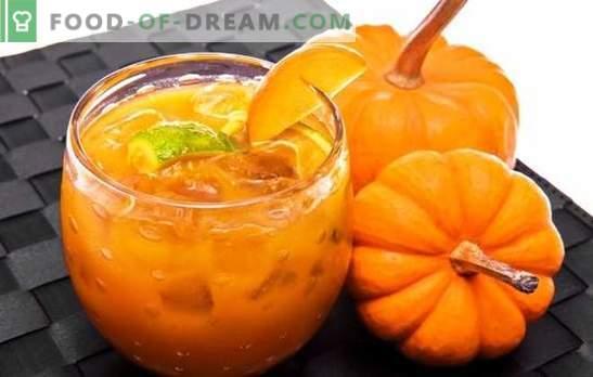 Тиквено сладко с портокал е полезен деликатес. Опции тиквено сладко с портокал и лимон, сушени кайсии, морски зърнастец, ядки