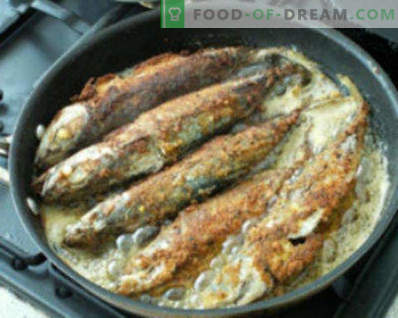 Come cucinare lo sgombro in una padella. Fried Mackerel