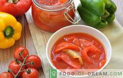 Како да се направи домашно лехо за зимата: унгарски, бугарски, руски. Изберете го вашиот рецепт за домати леко за зима