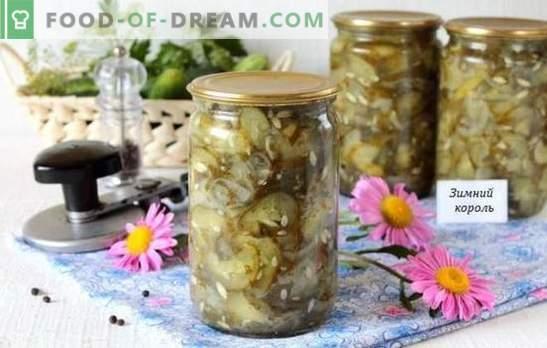 Направихте ли зима за салата с кралски краставици? Нови рецепти за салата от краставици за зимата