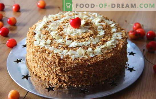 Медена торта с кондензирано мляко - десерт за всякакъв повод. Как да пекат вкусна медена торта с кондензирано мляко: рецепти за начинаещи
