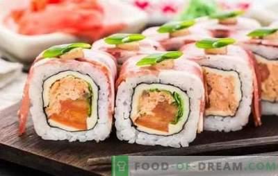 Суши дома: чекор по чекор рецепти и трикови. Како да се готви оризот, пополнете и суви суви дома