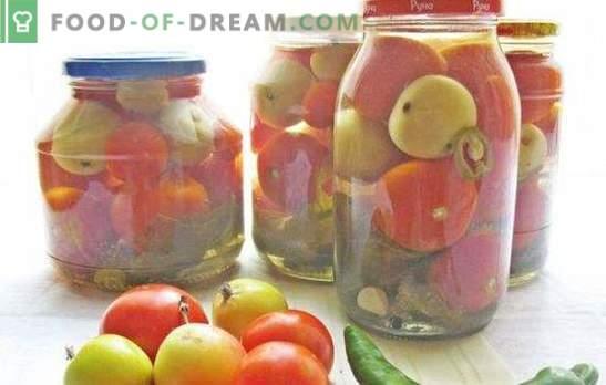 Червени и зелени домати с ябълки за зимата: помогни си! Рецепти за консервирани, осолени и кисели домати с ябълки за зимата