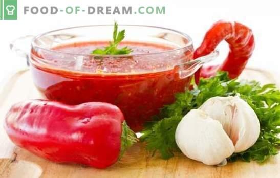 Пепър Аджика: тласкам в кухнята! Съвети, рецепти и трикове за приготвяне на ароматизиран аджика от пипер