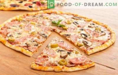 Thin pizza dough - the secret of the Italians! 7 best recipes for thin pizza dough: without yeast and the usual yeast