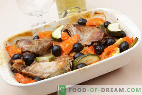 Заек, печен в пещта - най-добрите рецепти. Как да се готви заек в пещта.
