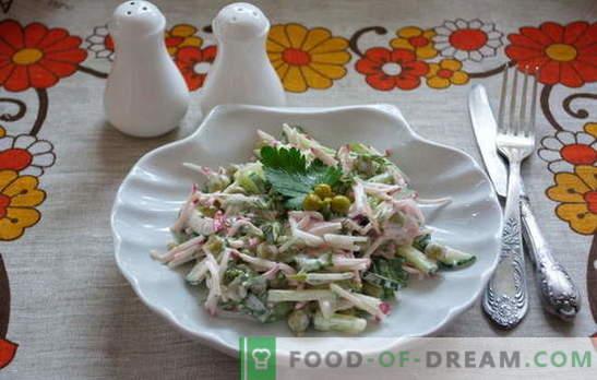 Запознайте се: бърза и проста салати в бързаме! Прости рецепти за салати за делнични и празнични дни