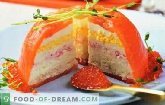 Рибната торта е страхотна закуска: какво просто не се случва! Вкусни и прости рецепти за риба от консерви и прясна риба