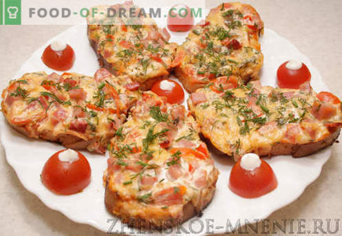 Горещи сандвичи - рецепта със снимки и описание стъпка по стъпка.