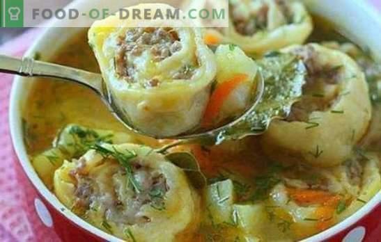 Мързените кнедли са любимо ястие. Начини за приготвяне на мързеливи кнедли: от пита, заквасена сметана, със зеле, със зеленчуци
