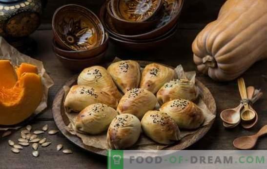 Самса с тиква - сочни триъгълници! Рецепти на узбекски и прости самса с тиква от различни видове тесто