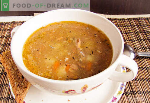 Saury Soup - доказани рецепти. Как правилно и вкусно да готвя супа от соя.