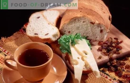 Рецепти за бял и ръжен хляб с стафиди за фурната и хлебопроизводителя. Традиционни национални сладкиши - хляб със стафиди