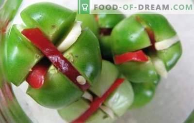 Зелени домати с чесън - можете да го направите вкусно! Събиране на зелени домати с чесън по различни начини