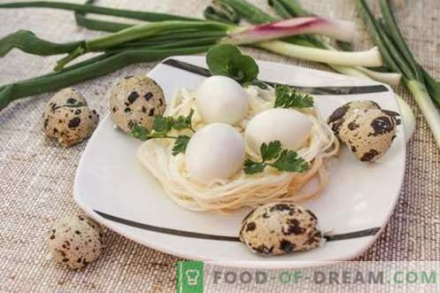 Закуска за гнезда на пъдпъдъци - празник за всеки ден