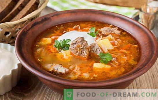 Супа от прясно зеле - 10 най-добри рецепти. Супа от прясно зеле с телешко, пилешко, свинско, пушено месо, боб