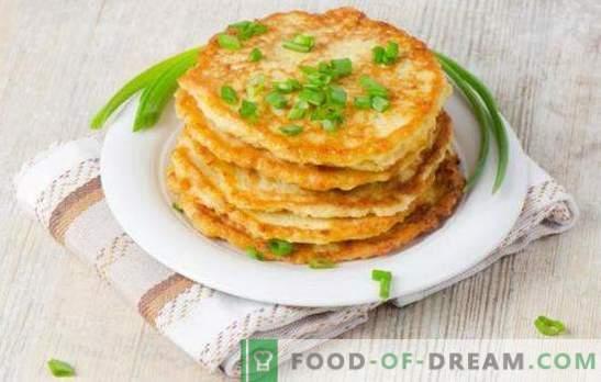 Палачинки със зелен лук - прекрасен аромат! Палачинки със зелен лук върху кисело мляко, тиквички, черен дроб, сирене и смляно месо
