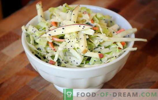 Зелена салата с ябълка - презареждане с витамини! Рецепти за салата от зеле и ябълки за делнични и гладни дни