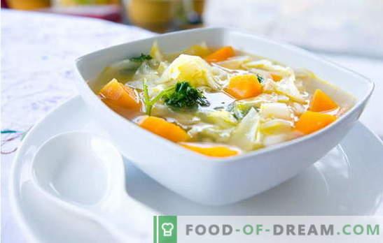 Супа от зеле - доказани и авторски рецепти. Как да готвя супа от зеле: карфиол, броколи, кольраби