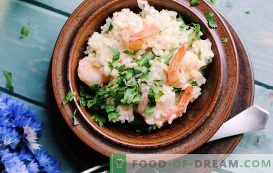 Ризото: Рецепта стъпка по стъпка за вкусно оризово ястие. Готвене на ризото с гъби, морски дарове, бобови на рецепти стъпка по стъпка.