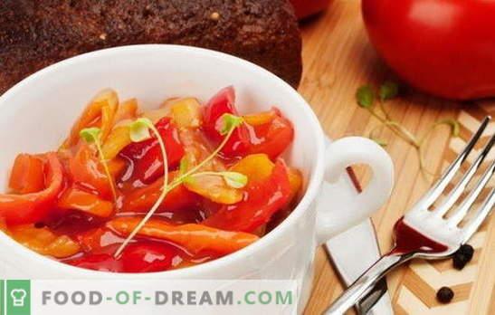 Готварско лечо с доматено пюре: просто или елегантно? Най-добрите варианти, стъпка по стъпка рецепти за лечо от доматено пюре и зеленчуци
