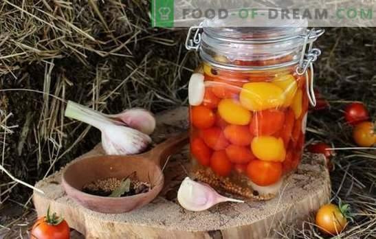 Чери домати за зимата - малко остра радост! Рецепти с несравними препарати с чери домати за зимата