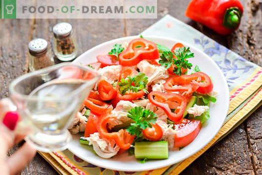 Диетична салата с пилешки гърди без майонеза