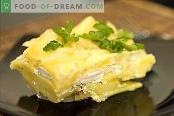 Пилешки гърди с картофи - не е лесно, но много просто! Яхнии, печива, ролки, луди и други рецепти за пилешки гърди и картофи