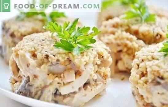 Салата с калмари: стъпка по стъпка рецепта за празнична или проста закуска. Стъпки по стъпка рецепти за салати с калмари: готвене, наслаждавайки се