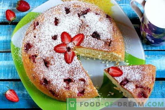 Шарлот с ягоди - 5 най-добри рецепти. Как правилно и вкусно да се готви ягода от ягода (включително рецепта без печене!)