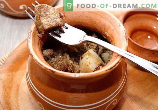 Свинско в пота - най-добрите рецепти. Как правилно и вкусно да готвя свинско в гърне.