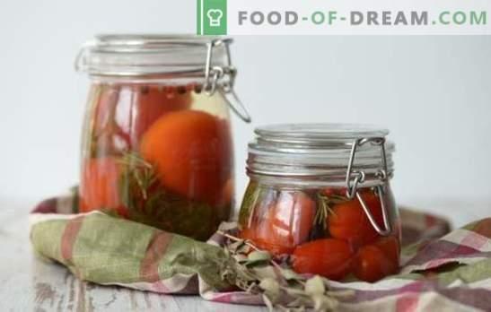 Марината за домати - основният герой на доматите! Рецепти за вкусни маринати за домати: с оцет, аспирин, водка