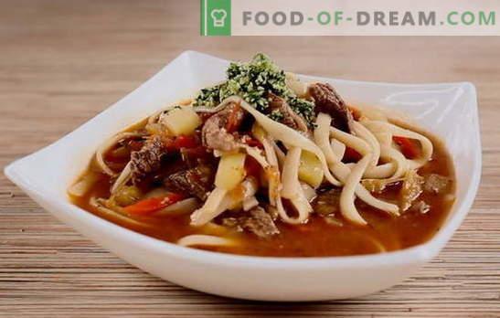 Узбекска супа - налична екзотика. Характеристики на подготовката на узбекска агнешка супа, узбекска супа от юфка: рецепти