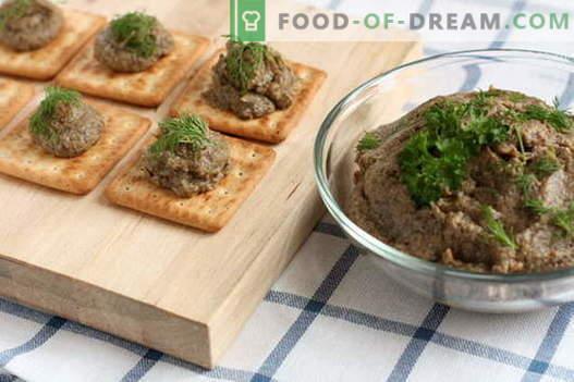 Пастет от гъби - най-добрите рецепти. Как да правилно и вкусно готви гъби пастет.