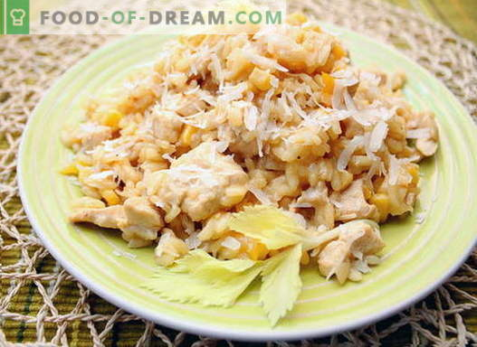 Пилешко ризото - най-добрите рецепти. Как правилно и вкусно приготвя ризото с пиле.